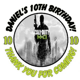 Personalised Call of Duty MW3 Party Stickers